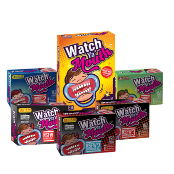 Full Monty - Watch Ya' Mouth Game + ALL Expansion Packs - 913 Total Cards!